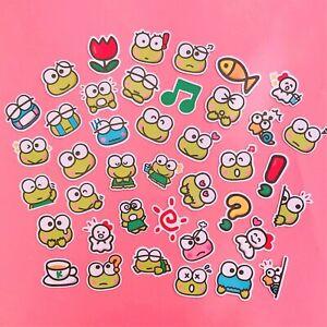 Pack of 40x Keroppi Stickers Kawaii Sanrio Japan Frog Sticker Sack Kidcore Kero