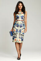 Next Floral Print Belted Sleeveless Knee Length Party Dress Size 8 BNWOT