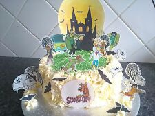Scooby Doo Scene Edible Wafer Topper Cake Decoration Set