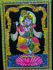 25 Indian Gods & Goddess Batik Sequin Cotton Wall Hangings Wholesale lot - Large