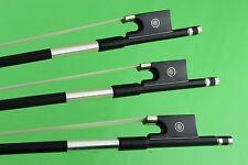 7 pcs New high class black Carbon fiber violin bows 4/4 size
