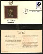 #3180 WINTER SPORTS, Alpine Skiing 1998 Gold Foil First Day Cover