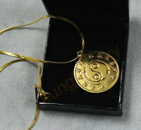 Bruce Lee Original 24k Gold Plated Necklace Rare Medallion Souvenir For JKD