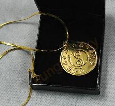 Bruce Lee Original 24k Gold Plated Necklace Rare Medallion Souvenir For JKD