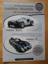 WESTFIELD Jubliee Sport & XI Limited Editions 2007 brochure - Lotus interest