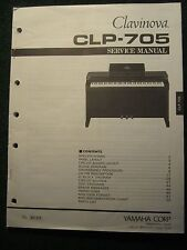 Yamaha Clavinova CLP-705 Service Shop Manual Schematics Parts List  CLP705 1993