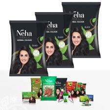 Neha Herbal Natürliche Haarfarbe Henna Schwarz Kräutern Grune tee Pulver 20g Pak