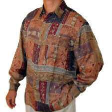 "New 100% Silk Shirts for Men S,M, L, Brand Name ""SURPRISE"" NWT Print #104"