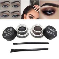 Waterproof Makeup Eyeliner Gel Liner Pen Brush Set 2 in 1 Kit Cosmetic Beauty