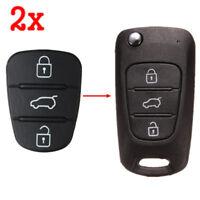 2x3 Button Remote Key Fob Case Shell Rubber Pad For Hyundai I10 I20 I30 Flip Key