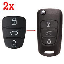 2x3 Button Rrmote Key Fob Case Shell Rubber Pad For Hyundai I10 I20 I30 Flip Key