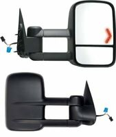 Power Heat LED Signal Towing For 03-07 Sierra Silverado Truck Side Mirrors Pair