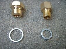 5.3 6.0 5.7 Oil Pressure & Coolant Temp Gauge Fitting Adapters SWAP LS1 LS2 LSX