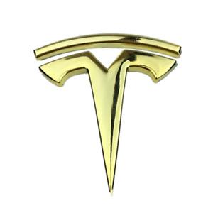 Gold Metal Tesla Logo Car Body Side Fender Rear Emblem Badge Fit for Model X S 3