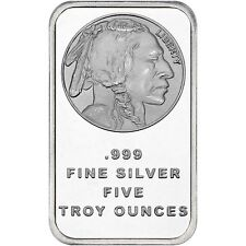 American Buffalo 5oz .999 Fine Silver Bar