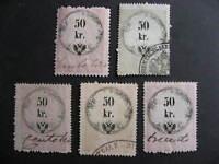 Austria U revenues 5 50 kr collector believed with print,plate varieties,errors