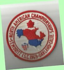 Scarce 1969 North American Skating Championships Large Patch Ex - Oakland, Ca