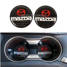 2x Mazda Carbon Fiber Car Cup Holder Pad Water Cup Slot Non-Slip Mat Accessories