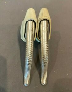Vintage Campagnolo C-Record Road Bike Brake Levers w/White Hoods Fast Shipping