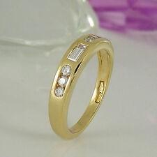 Ringe im Band-Stil aus Gelbgold mit VS Reinheit für Damen