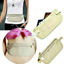 Pocket Compact Hidden BECS Travel Pouch Security Money Waist Belt Holder Bag SPT