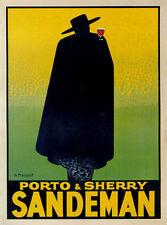 "TARGA VINTAGE""1931 PORTO E SHERRY SANDEMAN""PUBBLICITA STORICA,POSTER,ADVERTISING"