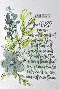 4 bible verse A6 art print christian card BE STILL psalm 145 encouragement kjv