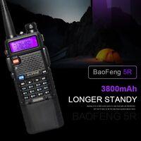 BAOFENG UV-5R Dual Band Walkie Talkie UHF VHF 128CH 3800mAH Battery Radio Black