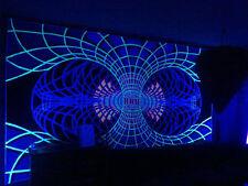 XXL UV Backdrop Continuum Yellow Psy Wandbehang 3,8m x 2,1m Hippie Goa Tuch Art