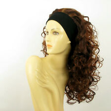 headband wig long curly wick light blond and red ODESSA 33h130