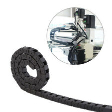 New 10 x 20mm 1Mete Open On Both Side Plastic Towline Cable Drag Chain BlackUK