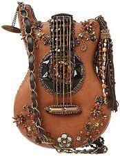 Mary France brown String Hall Of Fame Shoulder Bag Handbag Guitar Beaded New