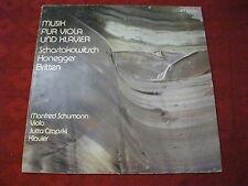 LP Manfred Schumann Jutta Czapski musique pour Viola et piano Chostakovitch