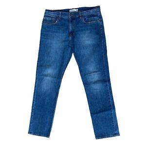 Men's ELEMENT jeans size W34 L 32 blue cotton denim elastane made in Mexico