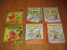Lot of 6 Childrens Scholastic ~ 4 MAMA REX AND T and 2 DINOFOURS ~ Preschool