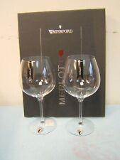 Set of 2 Waterford Elegance Stemmed Merlot/Red Wine Glasses Crystal NIB