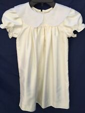 Vintage RAW SILK CHRISTENING GOWN  BABY DRESS VINTAGE HANDMADE DOLL