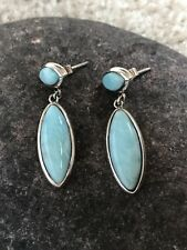 MARAHLAGO .925 Sterling Silver LARIMAR Earrings FREE FAST SHIPPING!