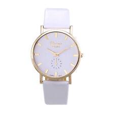 Geneva Uhren mit Kunstlederarmbänder