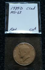 1989-D 50C KENNEDY HALF DOLLAR MINT UNCIRCULATED - WOW! RECEIVE THIS COIN!