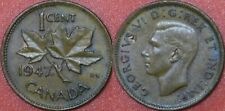 Brilliant Uncirculated 1947 Canada Pointed 7 & Near Leaf 1 Cent Maybe Toned