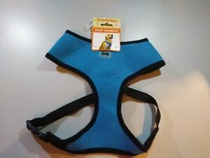 Simply Dog XL Blue Mesh T Strap Body Harness Adjustable With D Ring 35 to 55 lb