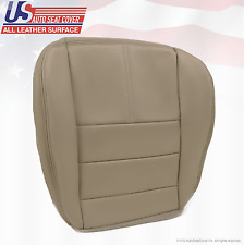 2008-2010  Ford F350 Lariat Driver Bottom Replacement Leather Seat Cover Gray 4S