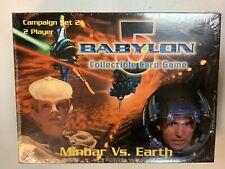 Babylon 5 Collectible Card Game Minbar vs. Earth 2 Player Campaign Set 1997 New