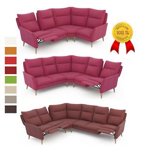 % PREMIUM Ecksofa RELAXFUNKTION Sofa L-FORM  3+E+2 DESIGN Hocker STOFF Farben !