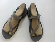 Merrell Sandals Leather ToePost Slip Mimosa Clove Summer Flat Padded Womens Sz 9