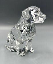 WATERFORD Crystal Dog Figurine Labrador Retriever, Lab, Paperweight Large