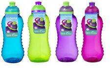 4 Sistema 330ml Twister Drinks Bottles Green,Blue,Pink & Purple BPA Free