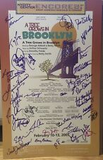 Cast Signed A TREE GROWS IN BROOKLYN Off Broadway Poster Windowcard