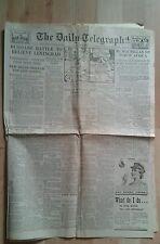 VINTAGE NEWSPAPER Telegraph.Jan 15th 1943. Russians battle to relieve Leningrad